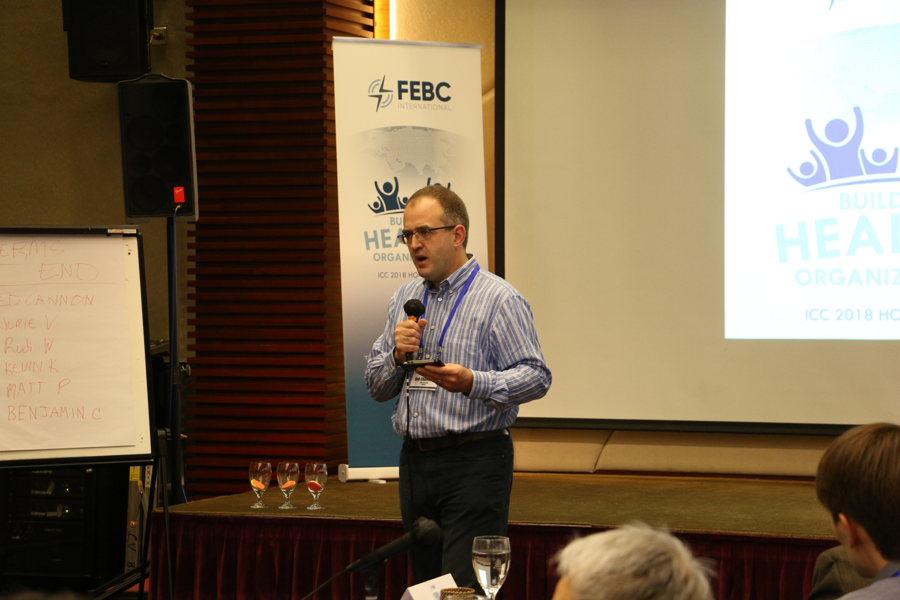 Feba UK CEO Bob Chambers at the ICC in Hong Kong 2018