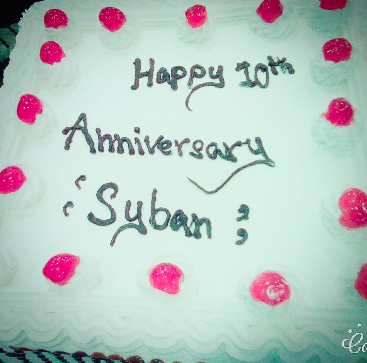 Radio Sybans 10th Anniversary cake