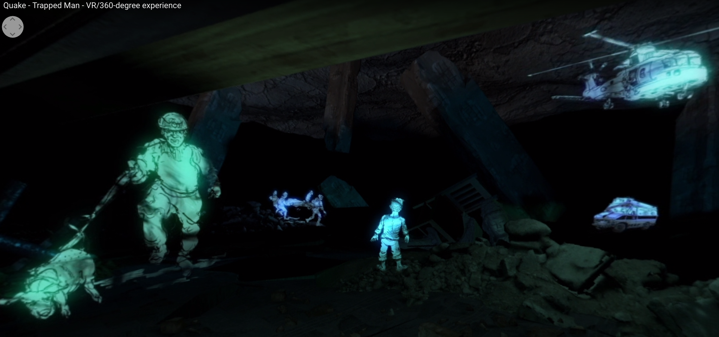 BBC Virtual Reality drama Quake screenshot