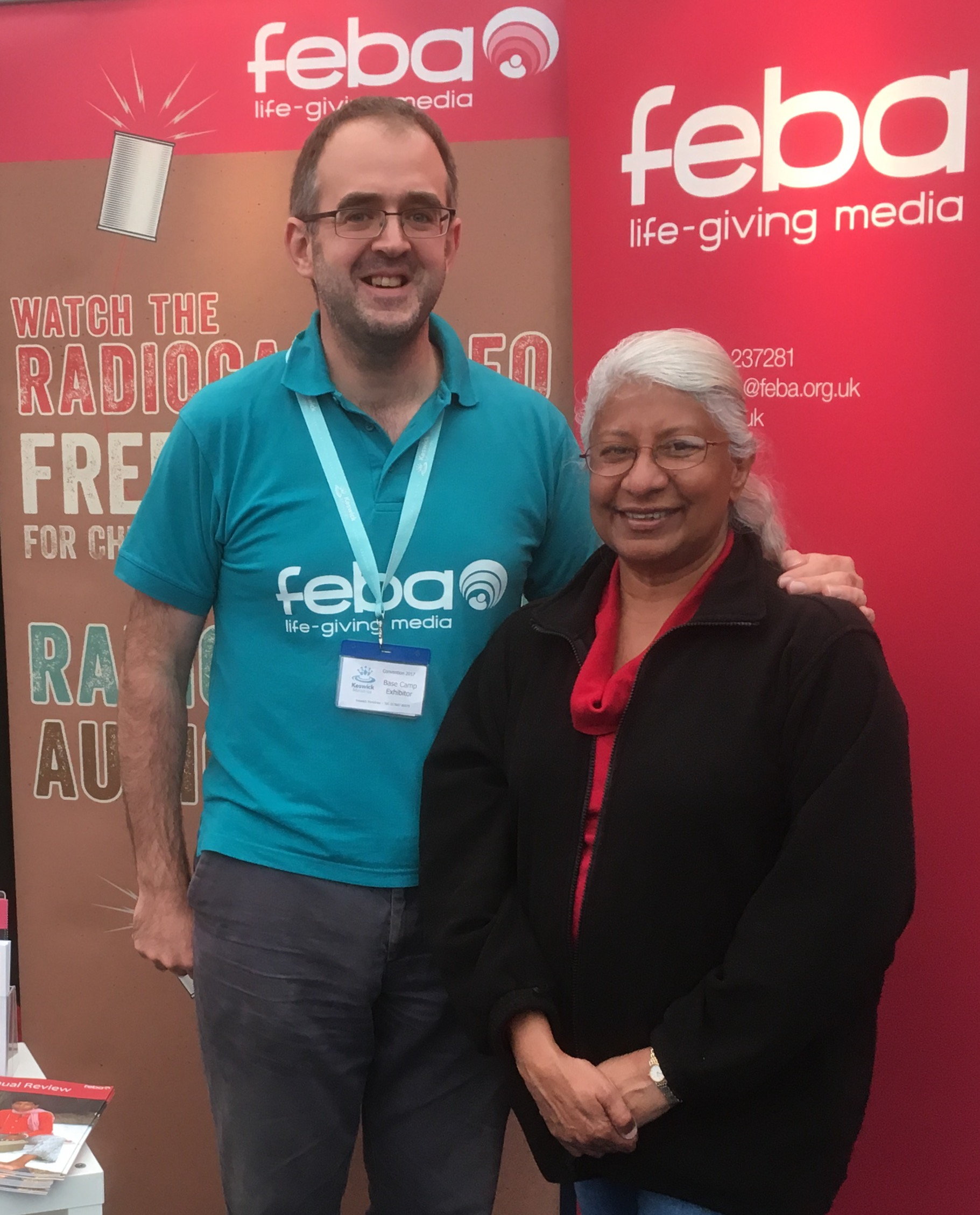 CEO Bob Chambers with Feba supporter Dot