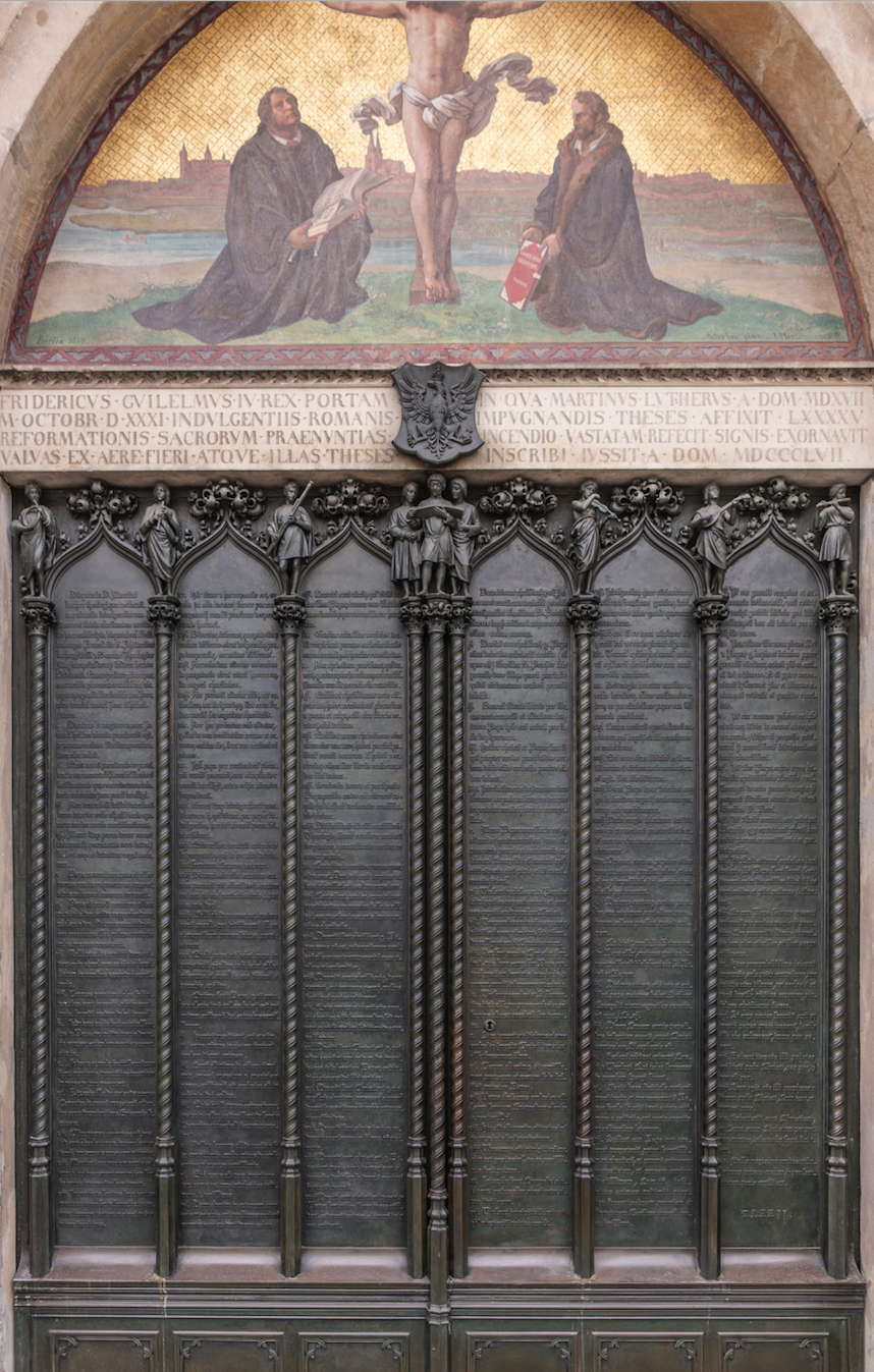Door of the Castle Church, Wittenberg where Luther is thought to have nailed the 95 theses