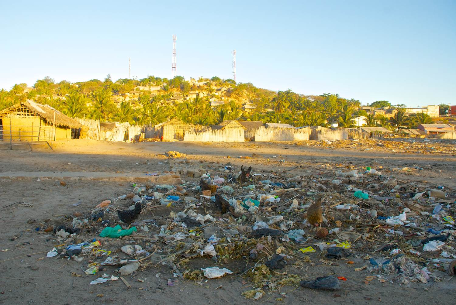 Litter in Pemba, Mozambique