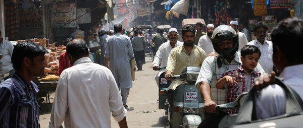 Busy street in Dehli