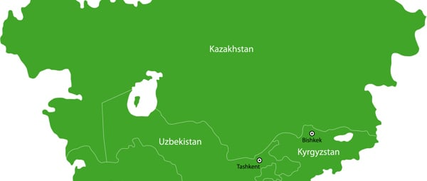 Map of Central Asian region