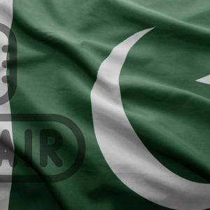 Pakistan flag with On Air image